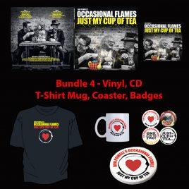 Just My Cup Of Tea – Bundle 4 – Vinyl, CD, T-Shirt, Mug, Coaster & Badges