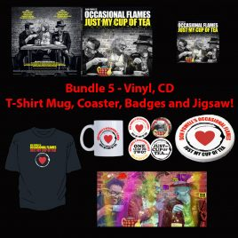 Just My Cup Of Tea – Bundle 5 – Vinyl, CD, T-Shirt, Mug, Coaster, Badges and Ltd Edt. Jigsaw!